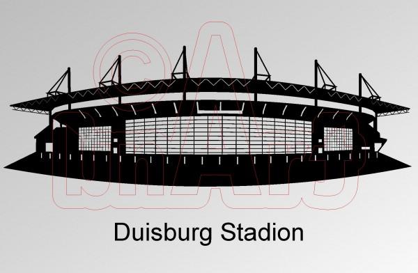 Vektorgrafik Duisburg Stadion