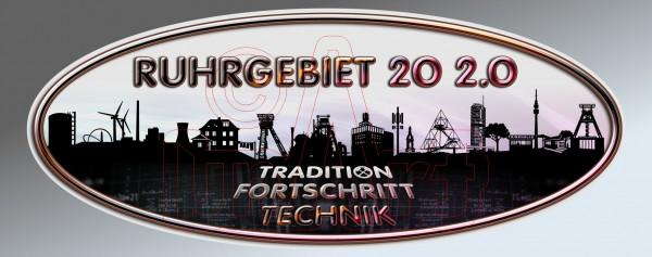 Aufkleber Sticker Ruhrgebiet 20 2.0