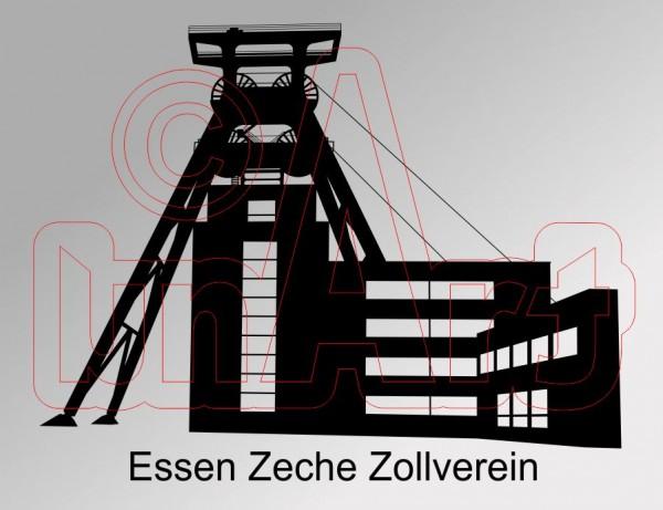 Vektorgrafik Essen Zeche Zollverein