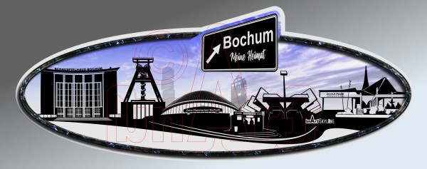 Aufkleber Sticker Skyline Bochum