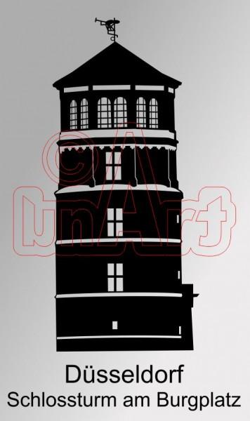 Vektorgrafik Düsseldorf Schlossturm am Burgplatz