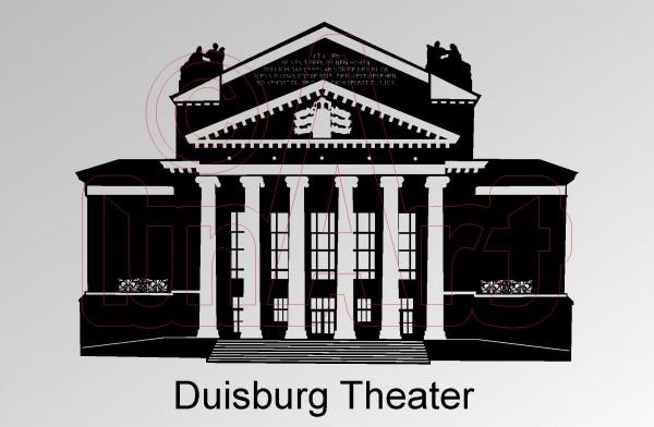 Vektorgrafik Duisburg Theater