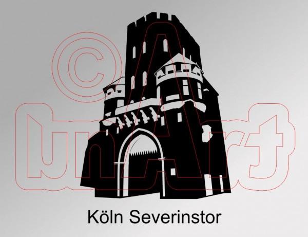 Vektorgrafik Köln Severinstor