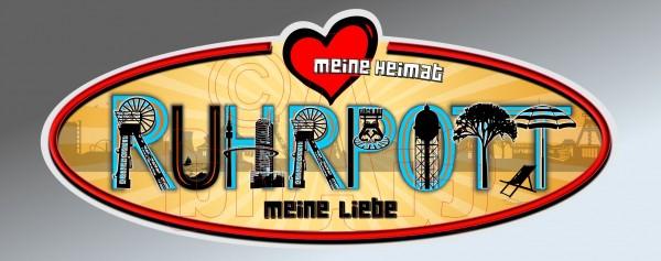 Aufkleber Sticker Meine Heimat Ruhrpott