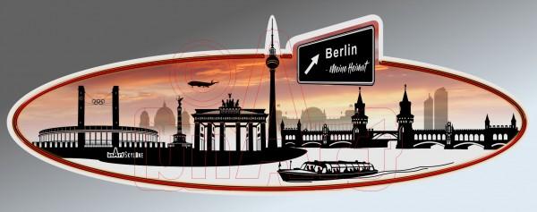 Aufkleber Sticker Skyline Berlin