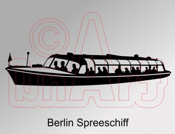 Vektorgrafik Berlin Spreeschiff