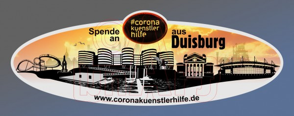 Spenden Aufkleber Duisburg