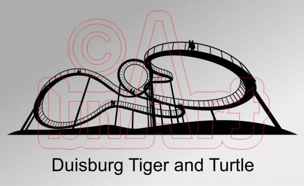 Vektorgrafik Duisburg Tiger and Turtle