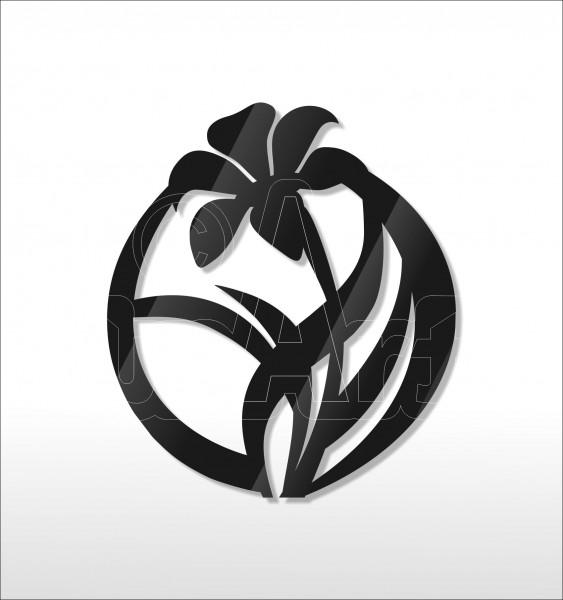 Acrylglas Pin Flower