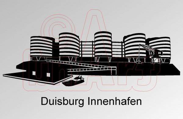 Vektorgrafik Duisburg Innenhafen