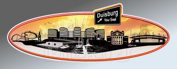 Aufkleber Sticker Skyline Duisburg