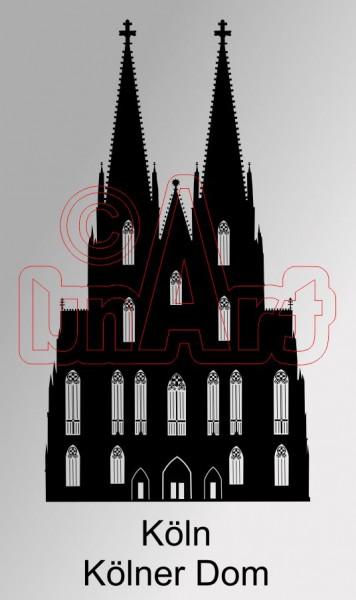 Vektorgrafik Kölner Dom