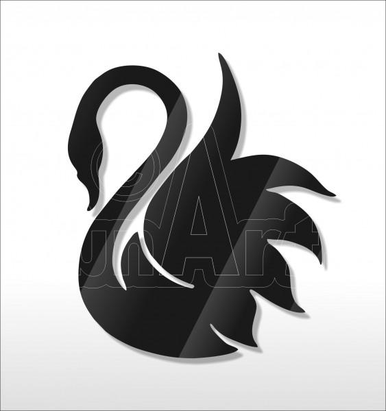 Acrylglas Pin Swan