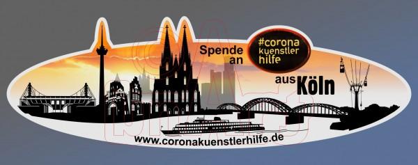 Spenden Aufkleber Köln