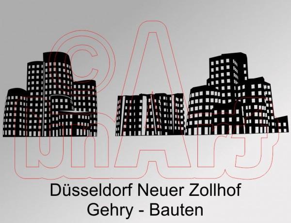 Vektorgrafik Düsseldorf Neuer Zollhof