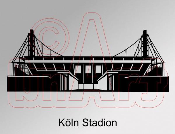 Vektorgrafik Köln Stadion