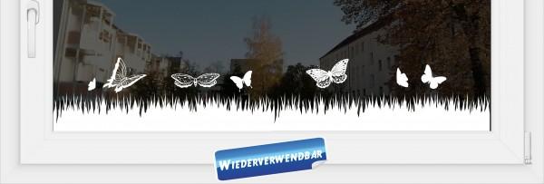 """Fensterfolie """"Schmetterlingswiese"""""""
