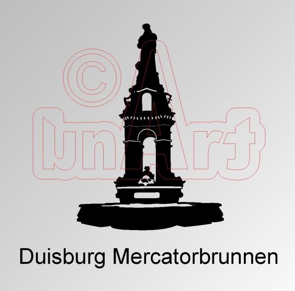Vektorgrafik Duisburg Mercatorbrunnen