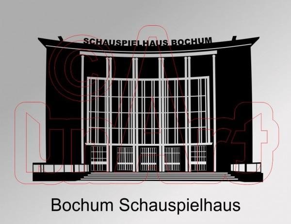 Vektorgrafik Bochum Schauspielhaus