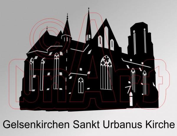 Vektorgrafik Gelsenkirchen Sankt Urbanus Kirche