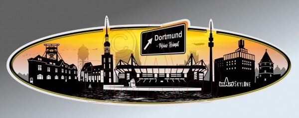 Aufkleber Sticker Skyline Dortmund