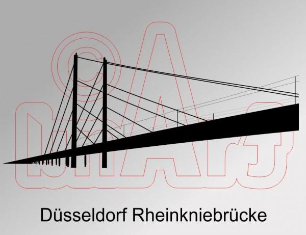 Vektorgrafik Düsseldorf Rheinkniebrücke