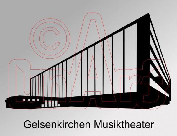 Vektorgrafik Gelsenkirchen Musiktheater