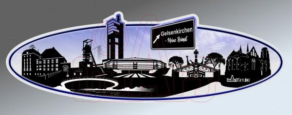 Aufkleber Sticker Skyline Gelsenkirchen
