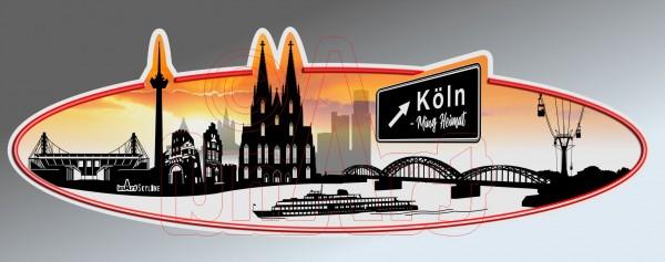 Aufkleber Sticker Skyline Köln
