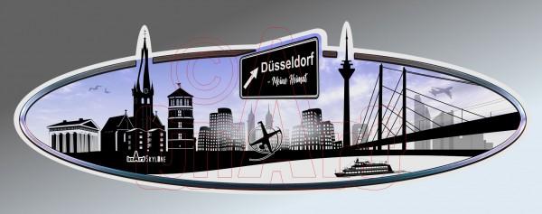 Aufkleber Sticker Skyline Düsseldorf