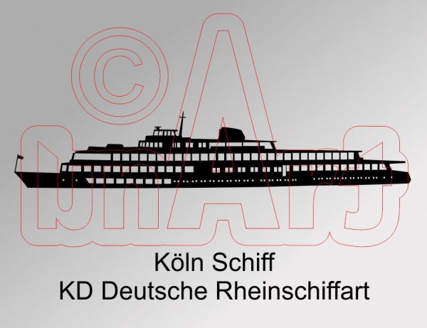 Vektorgrafik Köln Schiff KD Rheinschiffahrt