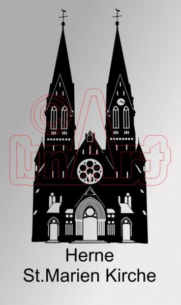 Vektorgrafik Herne St.Marien Kirche