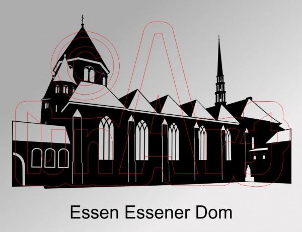 Vektorgrafik Essener Dom