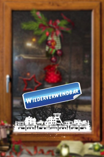 Weihnachts Fensterfolie Ruhrgebiet Stadt
