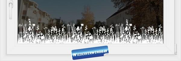 """Fensterfolie """"Blumenwiese"""""""