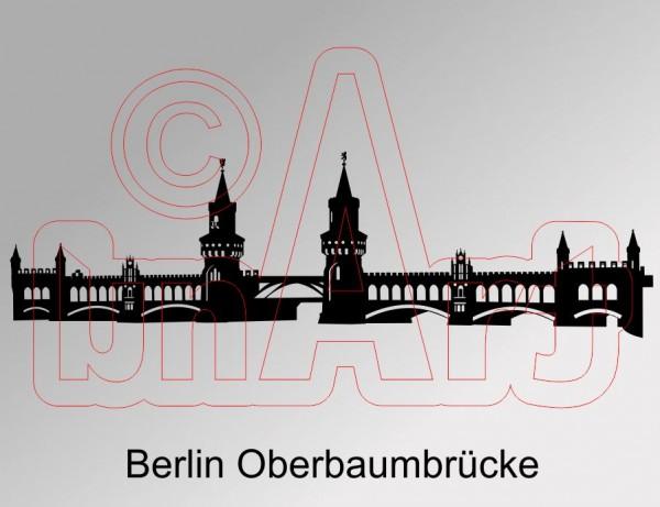 Vektorgrafik Berlin Oberbaumbrücke