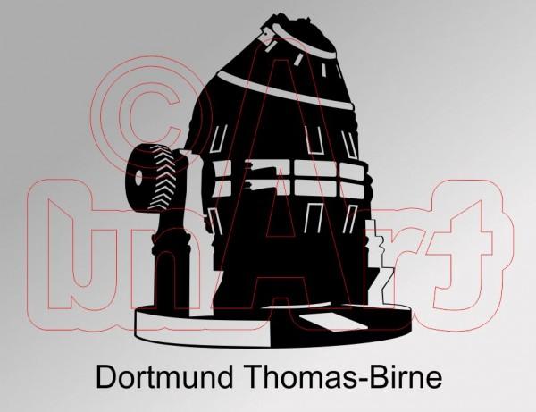 Vektorgrafik Dortmund Thomas-Birne