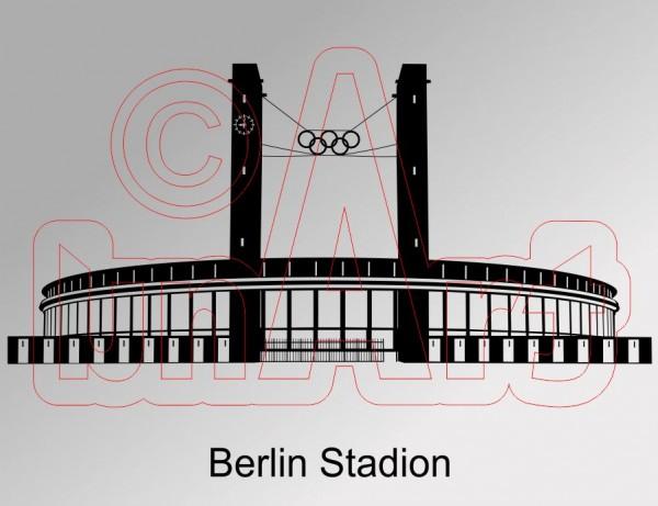 Vektorgrafik Berlin Stadion