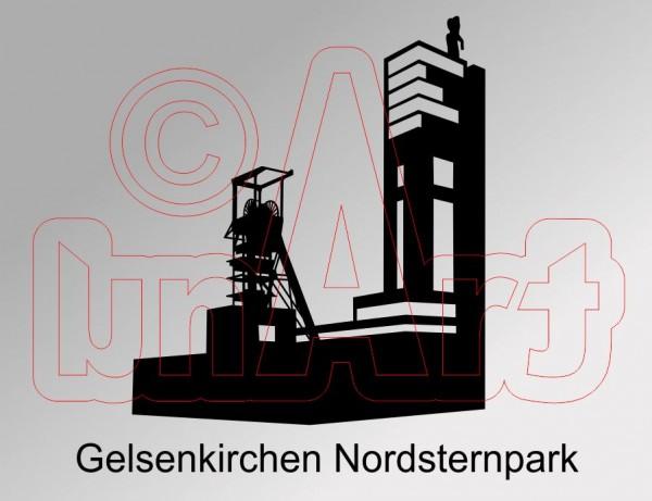 Vektorgrafik Gelsenkirchen Nordsternpark