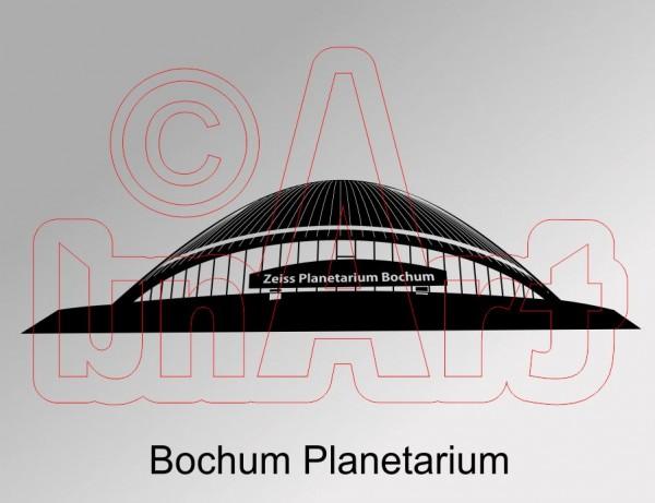 Vektorgrafik Bochum Planetarium