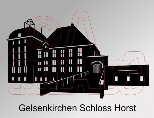 Vektorgrafik Gelsenkirchen Schloss Horst